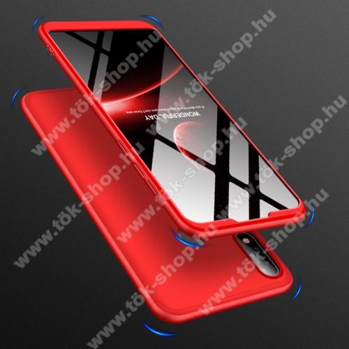 GKK műanyag védő tok / hátlap - PIROS - 360 fokos védelem! - ASUS Zenfone Max Pro (M2) (ZB631KL)