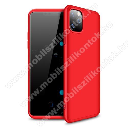 GKK műanyag védő tok / hátlap - PIROS - 360 fokos védelem! - APPLE iPhone 11 Pro