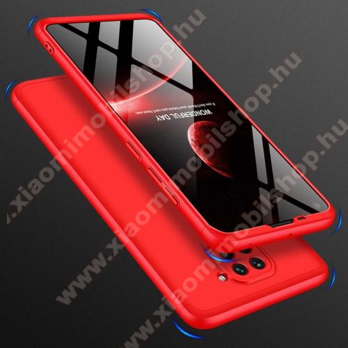 GKK műanyag védő tok / hátlap - PIROS - 360 fokos védelem! - Xiaomi Redmi Note 9 / Xiaomi Redmi 10X 4G