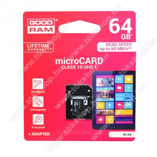 DJI Mavic Pro PlatinumGOODRAM MEMÓRIA KÁRTYA TransFlash 64 GB - microSDHC, Class 10, UHS-i 1, írási sebesség 20 Mb/s, olvasási sebesség 100 Mb/s, + SD adapter - M1AA-0640R12 - GYÁRI