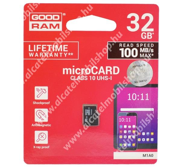 GOODRAM MEMÓRIAKÁRTYA TransFlash 32GB - microSDHC - Class 10, UHS-1, S1A0-0320R11 utódja - M1A0-0320R12 -GYÁRI