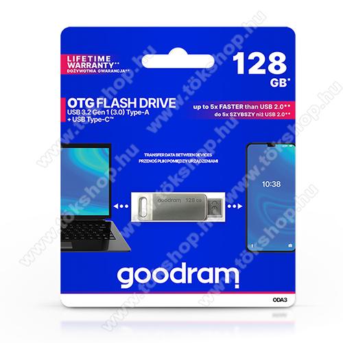GOODRAM OTG Flash Drive pendrive 2 az 1-ben - USB / Type-C csatlakozás, ODA3 USB 3.2 - 128 GB - GYÁRI