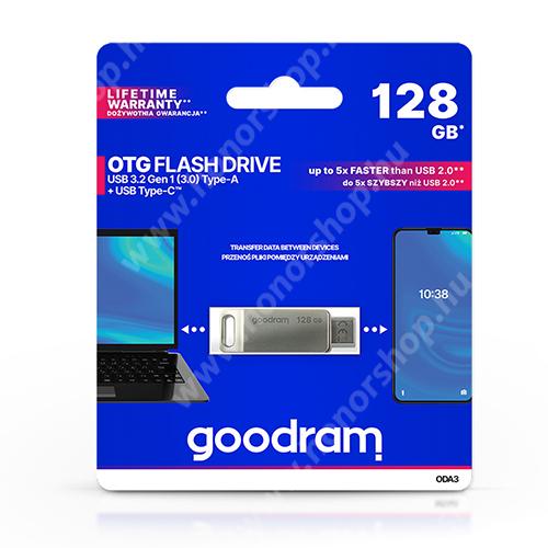 HUAWEI Honor V40 5G GOODRAM OTG Flash Drive pendrive 2 az 1-ben - USB / Type-C csatlakozás, ODA3 USB 3.2 - 128 GB - GYÁRI