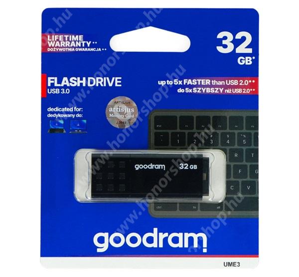 HUAWEI Honor V40 5G GOODRAM pendrive / USB Stick - UME3 (3.0) 32GB - FEKETE - UME3-0320K0R11 - GYÁRI