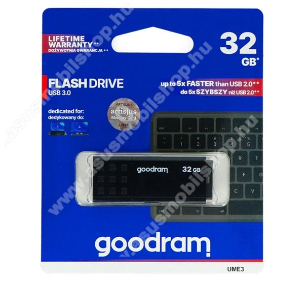 ASUS Zenfone 2 Laser (ZE500KL)GOODRAM pendrive / USB Stick - UME3 (3.0) 32GB - FEKETE - UME3-0320K0R11 - GYÁRI