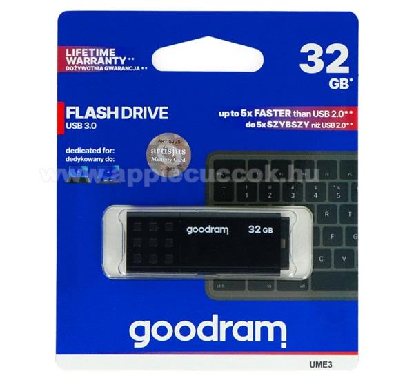 GOODRAM pendrive / USB Stick - UME3 (3.0) 32GB - FEKETE - UME3-0320K0R11 - GYÁRI