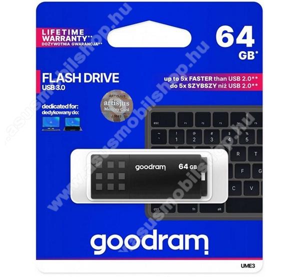 ASUS Memo Pad 7 ME572CGOODRAM pendrive / USB Stick - UME3 (3.0) 64GB - FEKETE - UME3-0640K0R11 - GYÁRI