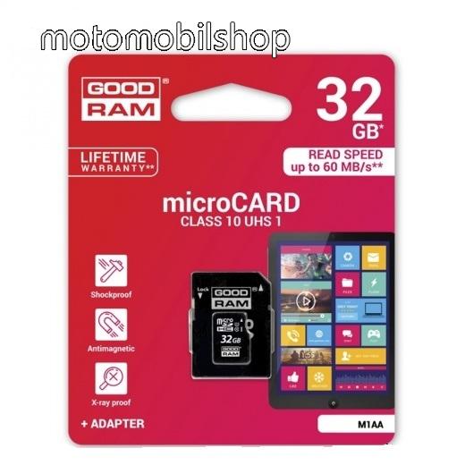 MOTOROLA Motoluxe (XT615) GOODRAM/TOSHIBA 32 GB microSDHC/TransFlash MEMÓRIA KÁRTYA (Class 10) + SD - GYÁRI