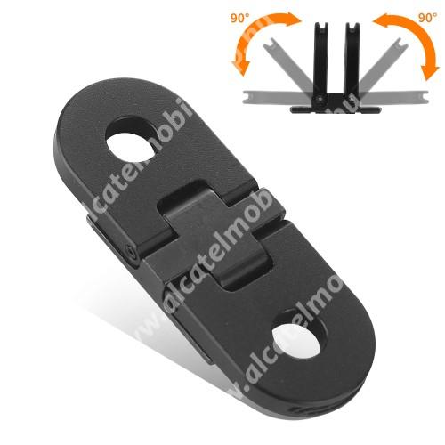 GoPro Hero 10 / 9 / 8 / Max-hoz alumínium mágneses adapter - összecsukható, 40 x 15 x 4mm - FEKETE