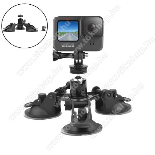 GoPro Hero 9 / 8 / 7 / 6 / 5 / 4 / 3 / 3 Plus / Plus / MAX / Fusion gépkocsi / autós tartó -  1/4