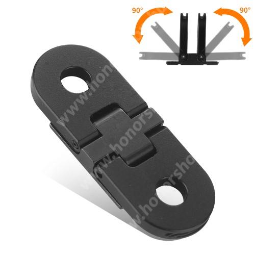 GoPro Hero 9 / 8 / Max-hoz alumínium mágneses adapter - összecsukható, 40 x 15 x 4mm - FEKETE