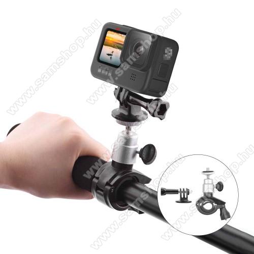GoPro Hero 9 kerékpár / motoros kormányra rögzíthető tartó - FEKETE - 1/4
