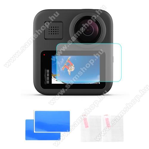 GoPro Hero Max HD-hez képernyővédő karcálló edzett üveg - 2db, 0,3 mm vékony, 9H