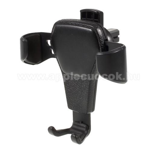 APPLE iPOD photo (40 GB, 60 GB)Gravity UNIVERZÁLIS autós / gépkocsi tartó - szellőzőrácsra rögzíthető, bőrrel bevont - FEKETE