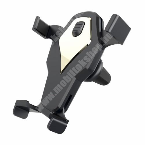 ZTE Blade A520 Gravity univerzális gépkocsi / autós tartó - szellőző rácsra helyezhető, 360°-ban forgatható - max 98 x 107 mm-ig nyíló bölcsővel - FEKETE