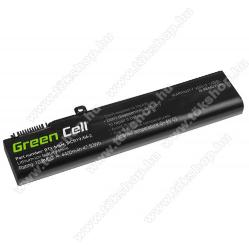 GREEN CELL akku 10.8V / 4400 mAh Li-Ion, MSI GE62 GE63 GE72 GE73 GE75 GL62 GL63 GL73 GL65 GL72 GP62 GP63 GP72 GP73 GV62 GV72 PE60 - MS16 - BTY-M6H