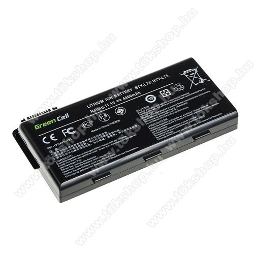 GREEN CELL akku 11.1V (10.8V) / 4400mAh Li-Ion, MSI A6000 CR500 CR600 CR700 CX500 CX600 - MS01 - BTY-L74 BTY-L75