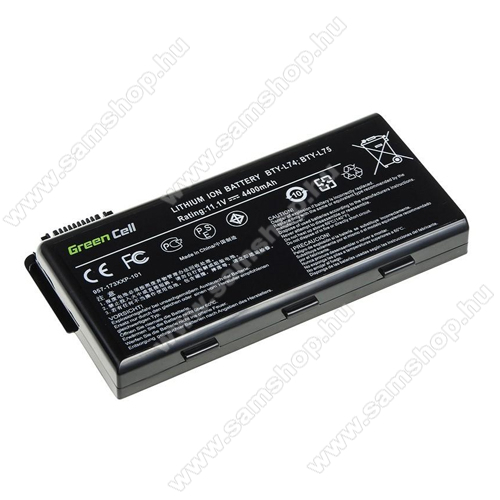 GREEN CELL akku 11.1V (10.8V) / 4400mAh Li-Ion, MSI A6000 CR500 CR600 CR700 CX500 CX600 - MS01 - BTY-L74 BTY-L75