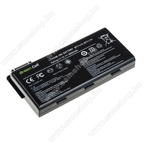 GREEN CELL akku 11.1V (10.8V) / 6600mAh Li-Ion, MSI A6000 CR500 CR600 CR700 CX500 CX600 - MS02 - BTY-L74 BTY-L75
