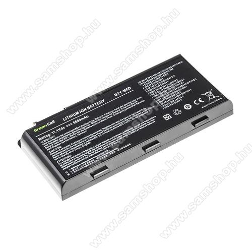 GREEN CELL akku 11.1V (10.8V) / 6600mAh Li-Ion, MSI GT60 GT70 GT660 GT680 GT683 GT780 GT783 GX660 GX680 GX780 - MS10 - BTY-M6D
