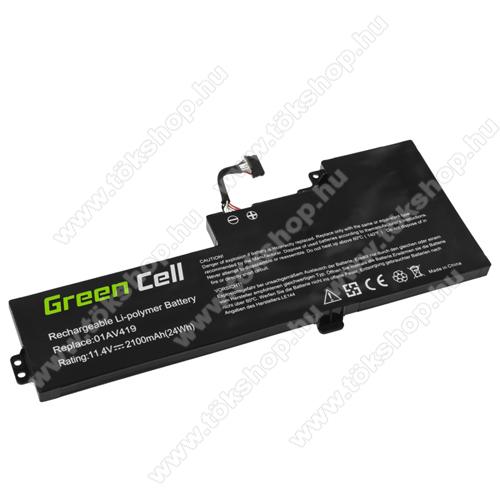 GREEN CELL akku 11.4V / 2100 mAh Li-Polymer, Lenovo ThinkPad T470 T480 A475 A485 - LE144 - 01AV419 01AV420 01AV421 01AV489