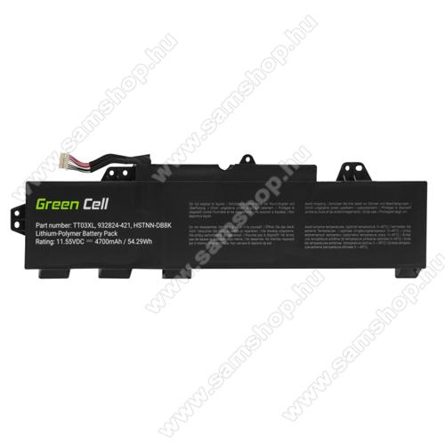 GREEN CELL akku 11.55V / 4700 mAh Li-Polymer, HP EliteBook 755 G5 850 G5, HP ZBook 15u G5 - HP166 - TT03XL