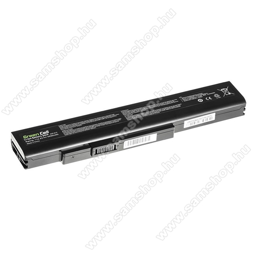 GREEN CELL akku 14.4V (14.8V) / 4400mAh Li-Ion, MSI A6400 CR640 CX640 MS-16Y1 - MS04 - A32-A15 A41-A15