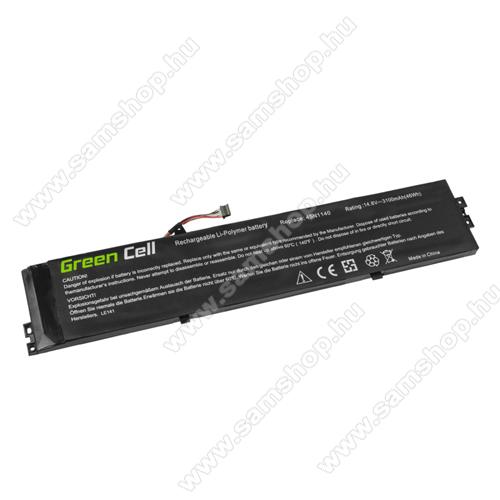 GREEN CELL akku 14.8V (14.4V) / 3100 mAh Li-Polymer, Lenovo ThinkPad S431 S440 - LE141 - 45N1138 45N1139 45N1140 45N1141