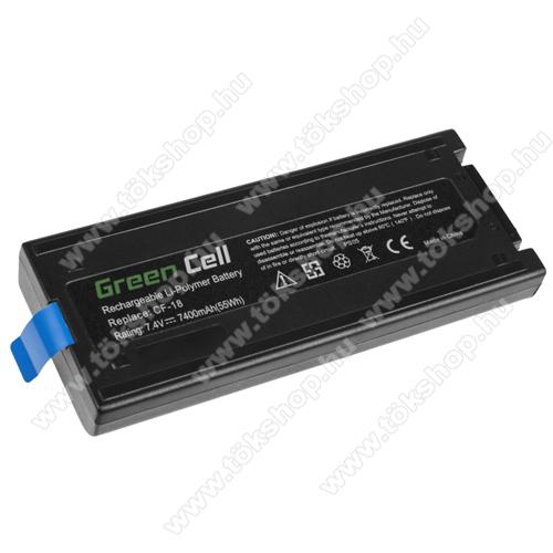 GREEN CELL akku 7,4V / 7400 mAh Li-Polymer, Panasonic Toughbook CF-18 - PS05 - CF-VZSU30B