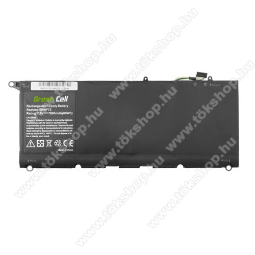 GREEN CELL akku 7.6V / 7895 mAh Li-Polymer, Dell XPS 13 9360 - DE133 - PW23Y