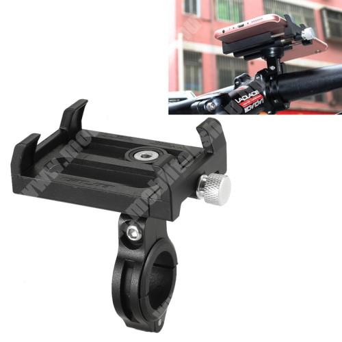 Elephone P3000 GUB Plus telefon tartó kerékpár / bicikli - FEKETE - UNIVERZÁLIS - elforgatható - 60-100mm-ig nyíló bölcsővel