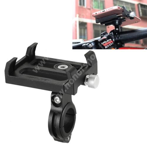 HUAWEI Honor 9 GUB Plus telefon tartó kerékpár / bicikli - FEKETE - UNIVERZÁLIS - elforgatható - 60-100mm-ig nyíló bölcsővel
