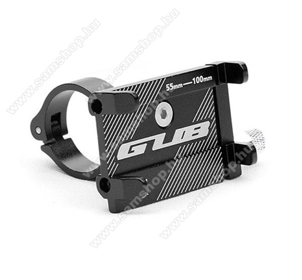SAMSUNG SGH-i560GUB UNIVERZÁLIS biciklis / kerékpáros tartó konzol mobiltelefon készülékekhez - FEKETE - alumínium, elforgatható, 22,2-31,8 mm átmérőjű kormányra alkalmas, 55-100mm-ig állítható bölcső - 3-6,8