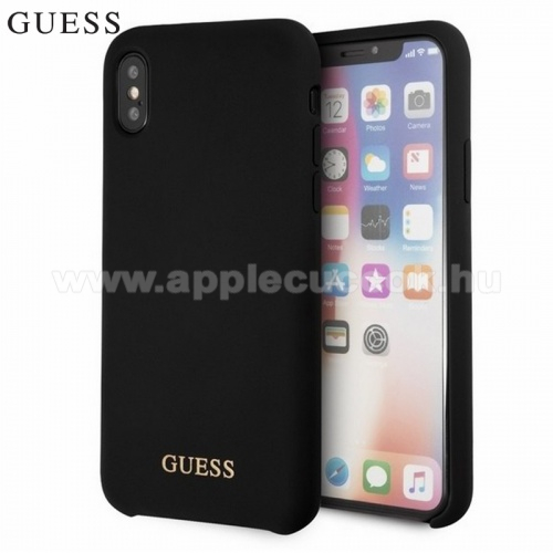APPLE iPhone XS GUESS m?anyag v�d?tok - FEKETE - GUHCPXLSGLBK - Apple iPhone X 5.8, Apple iPhone XS 5.8 - GY�RI