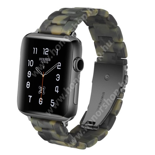 Gyanta okosóra szíj - 220mm hosszú, 22mm széles - TEREPMINTÁS - HUAWEI Watch GT / HUAWEI Watch Magic / Watch GT 2 46mm / Honor MagicWatch 2 46mm