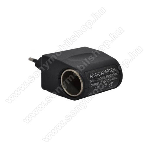 SONY Xperia M DUALHálózati adapter 220V/12V (12V/500mAh, szivartöltő aljzat) - FEKETE