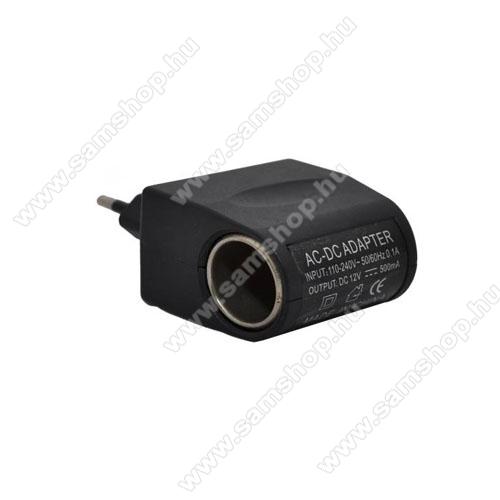 SAMSUNG SGH-X490Hálózati adapter 220V/12V (12V/500mAh, szivartöltő aljzat) - FEKETE