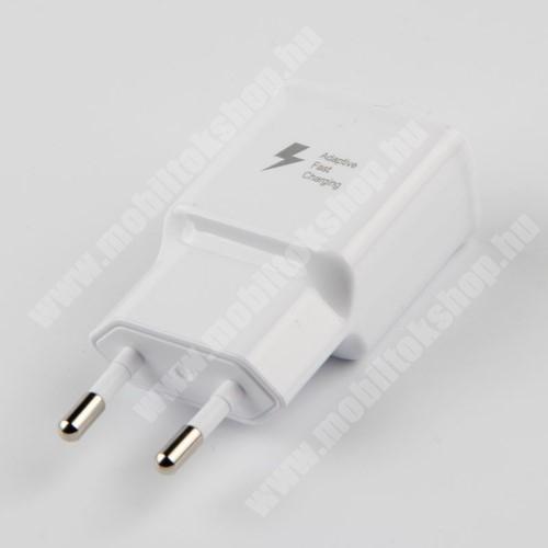 LG K40 (K12+) Hálózati töltő - 1x USB aljzat, gyorstöltés támogatás, 9V/1.67A; 5V/2A - FEHÉR
