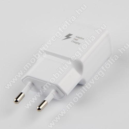 HUAWEI Enjoy 9eHálózati töltő - 1x USB aljzat, gyorstöltés támogatás, 9V/1.67A; 5V/2A - FEHÉR