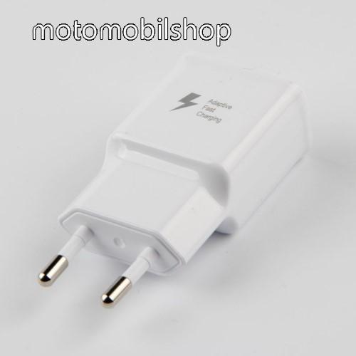 MOTOROLA Moto G3 (XT1540) Hálózati töltő - 1x USB aljzat, gyorstöltés támogatás, 9V/1.67A; 5V/2A - FEHÉR