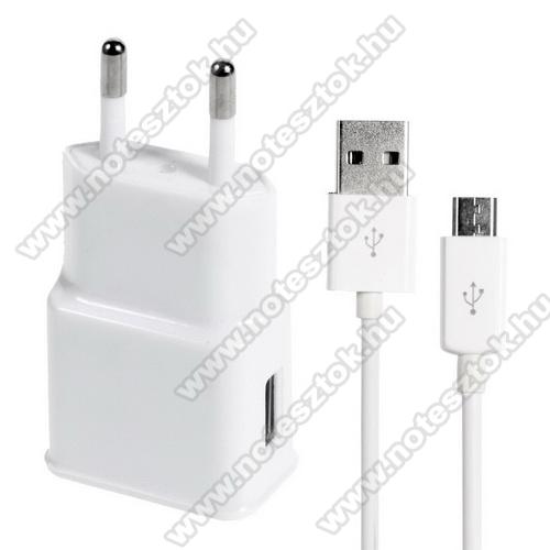 OPPO R17Hálózati töltő - 5V/1000mAh, USB aljzat, microUSB 2.0 adatátviteli / töltő kábellel - FEHÉR