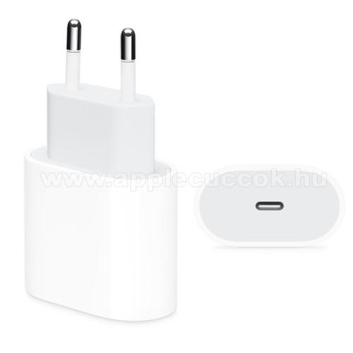 APPLE iPad Pro 12.9 (2018)Hálózati töltő - Type-C aljzat, 18W, 5V/3A; 9V/2A, kábel nélkül! - FEHÉR
