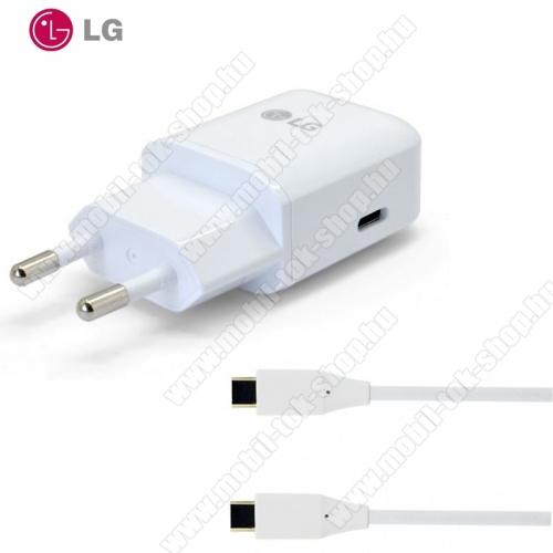 Hálózati töltő USB aljzat (5V / 3000mA, EAD63687001 kábel) FEHÉR - MCS-N04ER - LG G5 (H850) / LG Nexus 5X (H791)