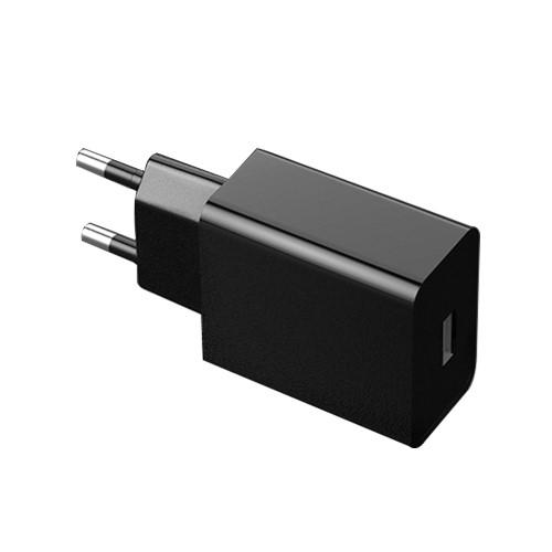 Hálózati töltő - USB aljzattal, 5V/2000mAh - FEKETE