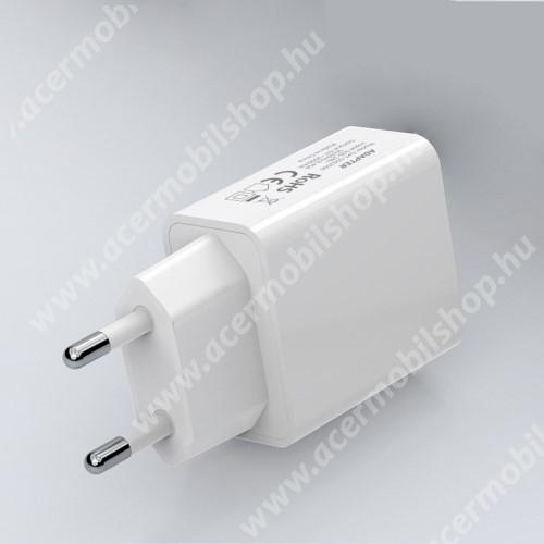 ACER Liquid X1 Hálózati töltő - USB aljzattal, 5V/2000mAh - FEHÉR