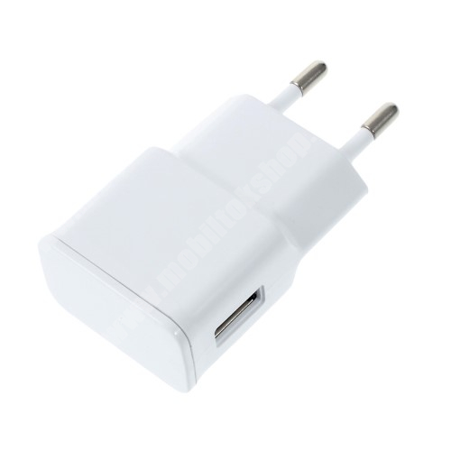 LG K40 (K12+) Hálózati töltő - USB aljzattal, 5V/2000mAh - FEHÉR
