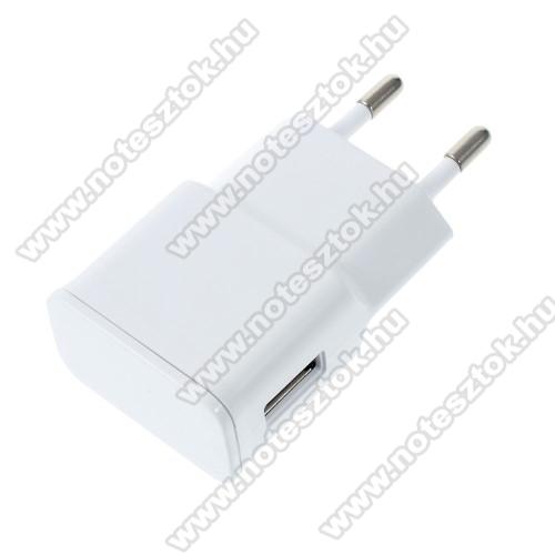 NOKIA 7.1Hálózati töltő - USB aljzattal, 5V/2000mAh - FEHÉR
