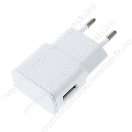 OPPO F7 YouthHálózati töltő - USB aljzattal, 5V/2000mAh - FEHÉR
