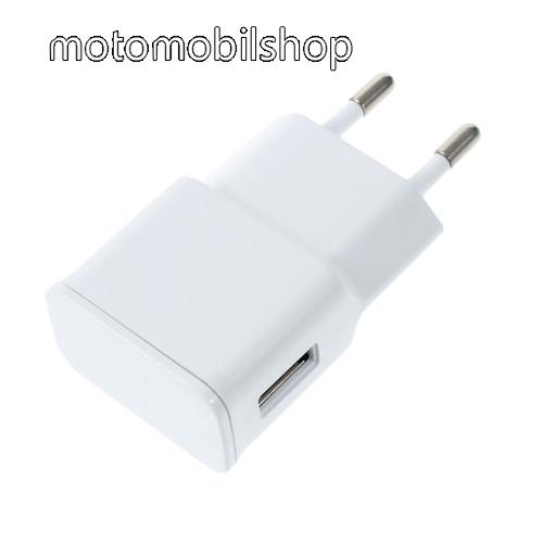 MOTOROLA Moto E4 Hálózati töltő - USB aljzattal, 5V/2000mAh - FEHÉR