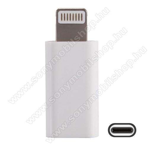 HAT PRINCE adapter USB 3.1 Type C-t Lightning-ra alakítja át - Adatátvitelre is képes - FEHÉR - GYÁRI